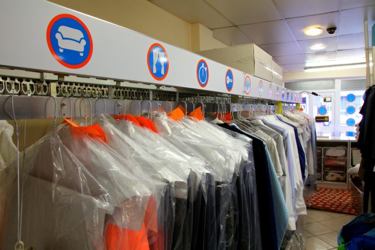 Image of dry cleaning rack at HOTP